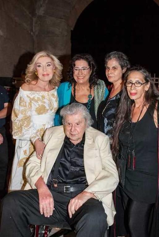Μίκης Θεοδωράκης, Μαριάννα Β. Βαρδινογιάννη, Μαρία Φαραντούρη, Μαργαρίτα Θεοδωράκη, Καίτη Βαβαλέα