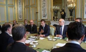 Στη Γαλλία με τον Μακρόν ο Πρόεδρος του κοινοβουλίου της Βενεζουέλας (Vid)