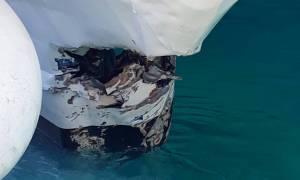 Καταμαράν προσέκρουσε στο λιμάνι της Σίφνου – Δύο τραυματίες (pics)