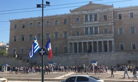 «Αστακός» η Αθήνα για την επίσκεψη Μακρόν (pics)