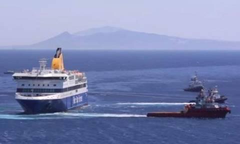 Blue Star Patmos: Aναμένεται να οδηγηθεί με συνδρομή ρυμουλκών σε ναυπηγείο στο Πέραμα