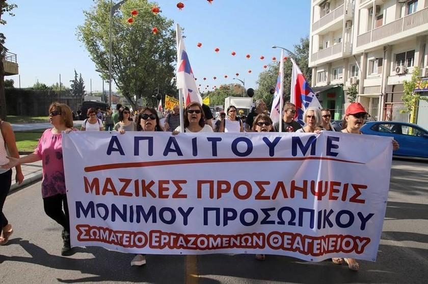 ΔΕΘ 2017: Πορεία της ΠΟΕΔΗΝ και σωματείων Υγείας στο γραφείο του πρωθυπουργού στη Θεσσαλονίκη