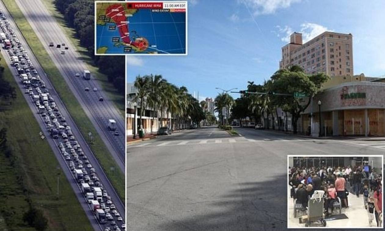 Τυφώνας Ίρμα: Σε κατάσταση πανικού η Φλόριντα - Άδειασαν βενζινάδικα και σούπερ μάρκετ (pics)