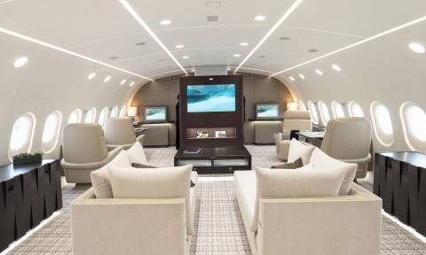 Αυτό είναι το πιο πολυτελές ιδιωτικό αεροπλάνο που έχετε δει ποτέ! (pics)