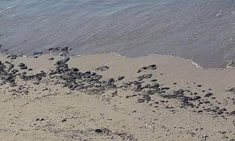 Η πετρελαιοκηλίδα «καταπίνει» τις παραλίες της Αθήνας – Κομμάτια μαζούτ στη Σαρωνίδα