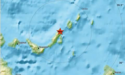 Ισχυρός σεισμός στην Αλόννησο