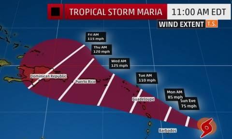 H… «Μαρία» απειλεί την Καραϊβική!