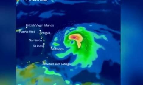 Ο κυκλώνας «Μαρία» νέα απειλή για την Καραϊβική (vid)