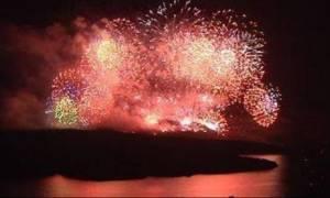 Εκπληκτικό: Εντυπωσίασε η αναπαράσταση της έκρηξης του ηφαιστείου της Σαντορίνης (videos)