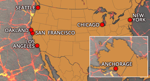 A map showing cities to avoid if Nibiru arrives 1079894