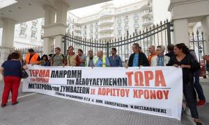 Ένταση στη Θεσσαλονίκη με συμβασιούχους των ΟΤΑ