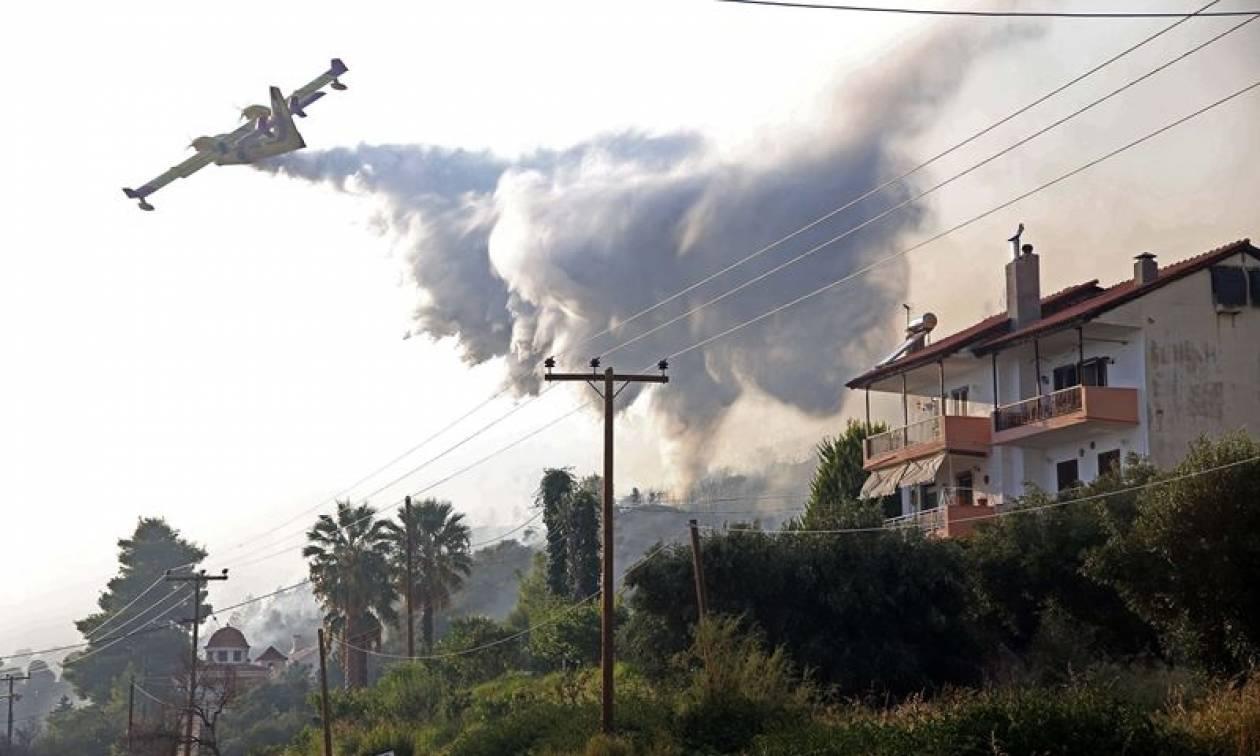 Χαλκιδική: Σε επιφυλακή η Πυροσβεστική Υπηρεσία