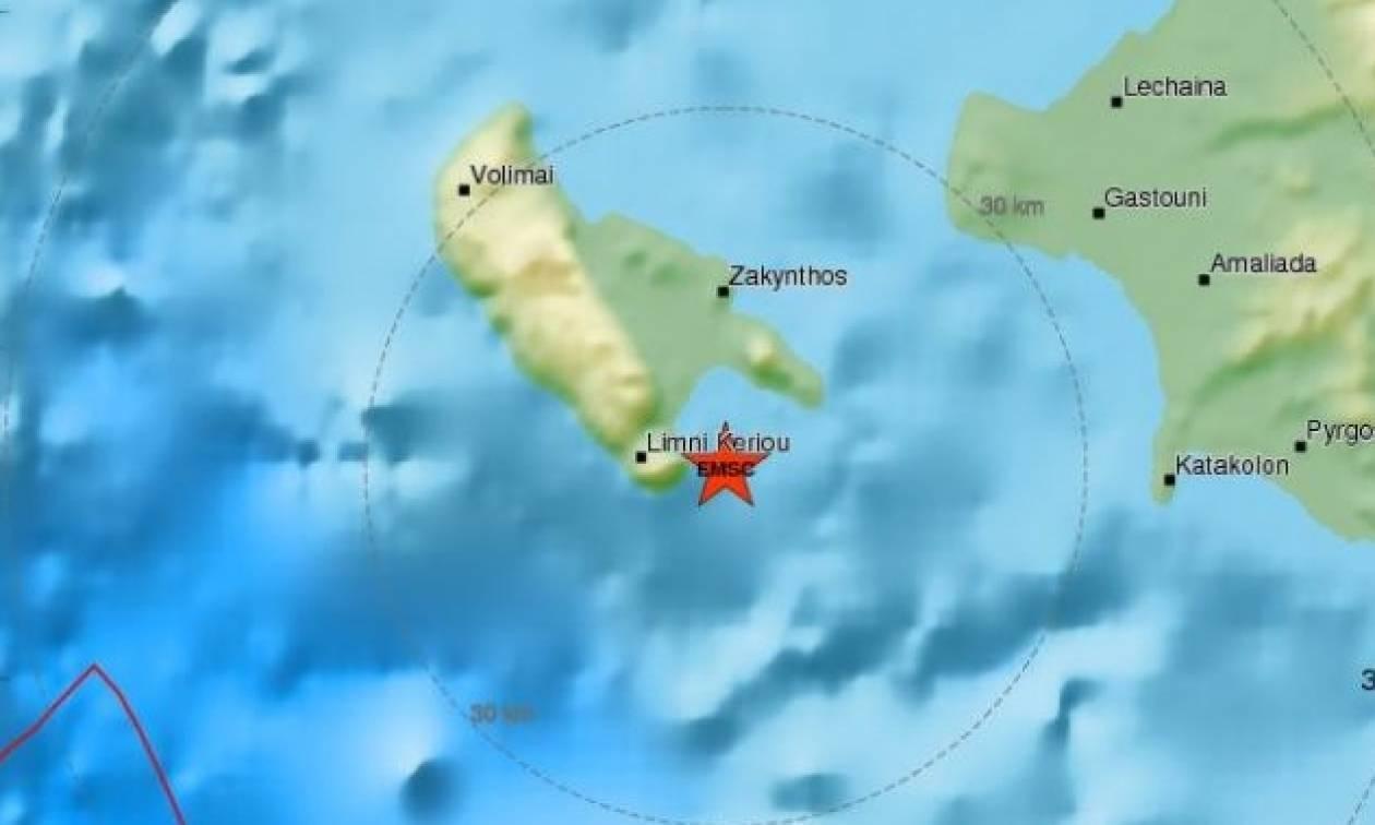 Σεισμός ταρακούνησε τη Ζάκυνθο - Αισθητός και στην Κέρκυρα