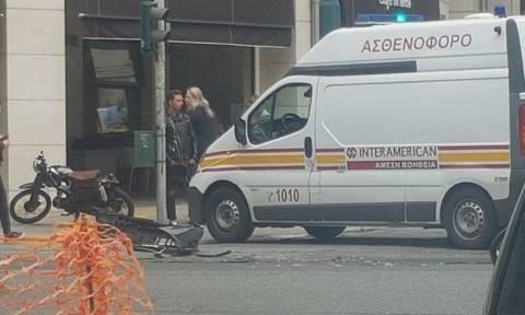 Τροχαίο ατύχημα στην Πατησίων (pics)