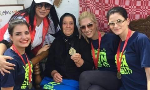 Χρυσό μετάλλιο για την γιαγιά του Ημιμαραθωνίου Κρήτης