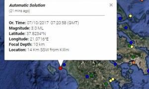 Σεισμός ΤΩΡΑ: Τα Ρίχτερ «ταρακούνησαν» την Κυλλήνη