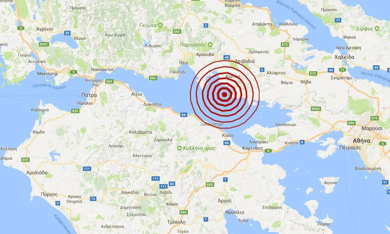 Σεισμός στον Κορινθιακό Κόλπο (pics)