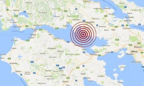 В Коринфе произошло землетрясение магнитудой 3,9 балла