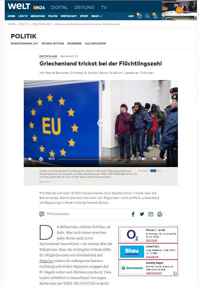 welt greece refugees