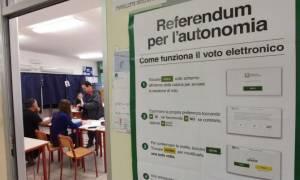 Ιταλία: Στο δρόμο που χάραξε η… Καταλονία - Υπέρ της αυτονομίας ψήφισαν σε Βένετο και Λομβαρδία