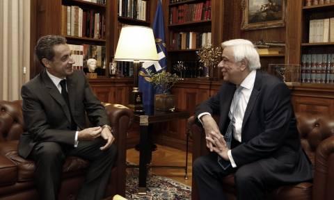 Συνάντηση Παυλόπουλου - Σαρκοζί στο Προεδρικό Μέγαρο (pics)