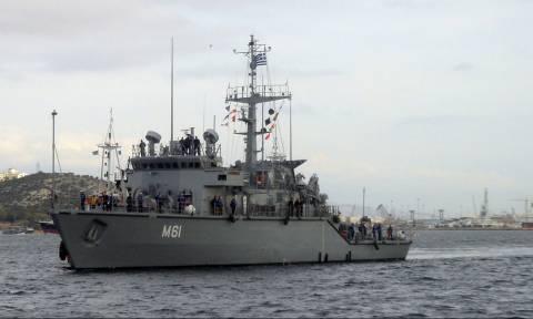 Σαρωνικός: Πυρκαγιά σε πλοίο του Πολεμικού Ναυτικού