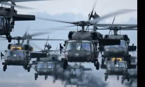 Αλεξανδρούπολη: Γιατί προσγειώθηκε σμήνος πολεμικών ελικοπτέρων (Black hawk) στο αεροδρόμιο (vid)