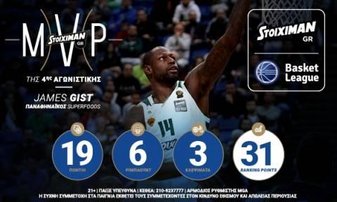 Stoiximan.gr MVP: Πρώτος στην κούρσα ο Τζέιμς Γκιστ
