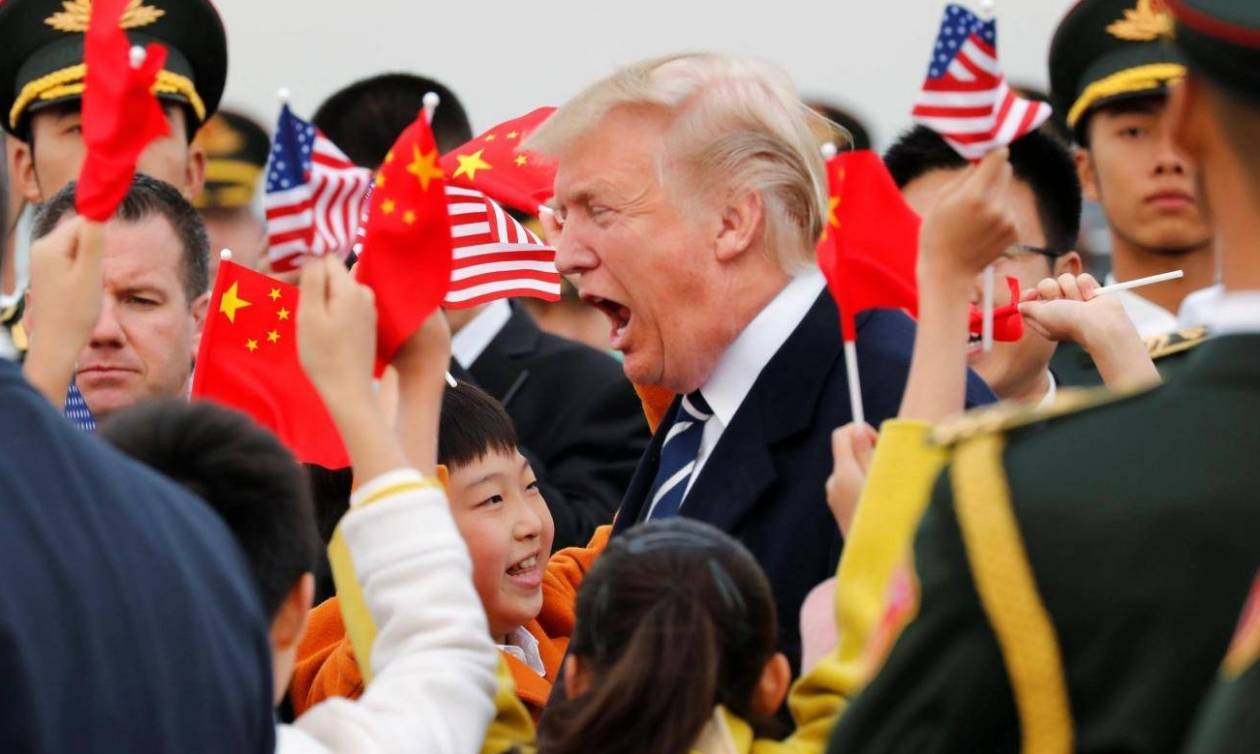 Έφτασε στην Κίνα ο Ντόναλντ Τραμπ