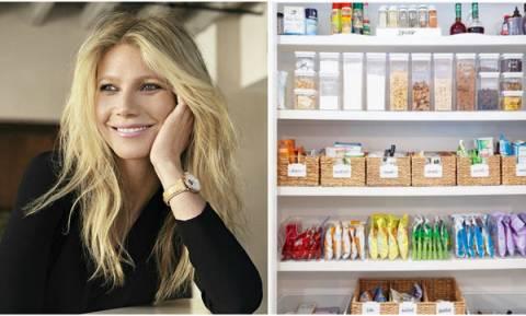 Πώς θα οργανώσετε τα ντουλάπια της κουζίνας, όπως η Gwyneth Paltrow