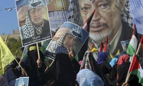 Γάζα: Μαζική συγκέντρωση στη μνήμη του Γιάσερ Αραφάτ