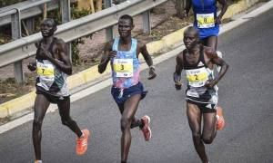 Athens Marathon: Kenya's Samuel Kalalei snaps gold (pics)
