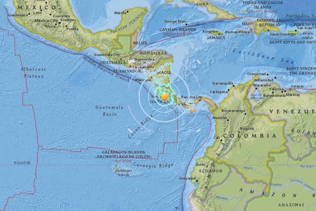 Σεισμός τώρα 6,7 Ρίχτερ στην Κόστα Ρίκα (pics)
