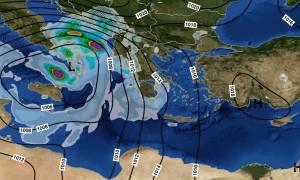 Καιρός ΤΩΡΑ: Η «Ευρυδίκη» κύκλωσε την Αττική – Καταιγίδες μέχρι την Παρασκευή