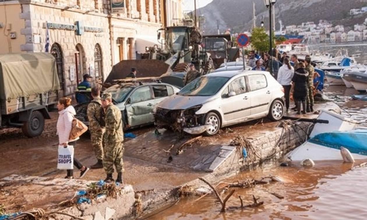 Καιρός – Σύμη: «Ήταν σαν σεισμός», λένε οι κάτοικοι (vid)