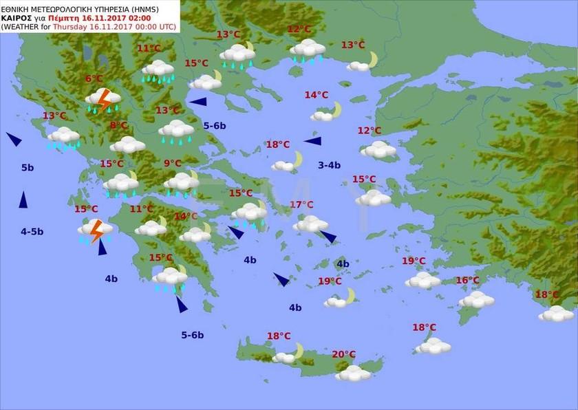 Καιρός τώρα: Η κακοκαιρία θα σαρώσει και την Τετάρτη τη χώρα με καταιγίδες και νεροποντές (pics)