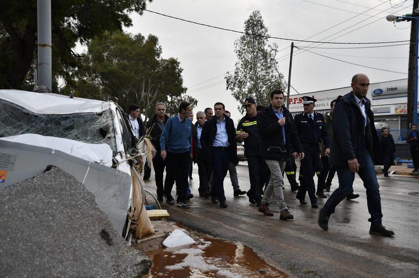 Πλημμύρες Αττική - Τσίπρας: Είμαι σοκαρισμένος με αυτά που είδα, θα αποκαταστήσουμε άμεσα τις ζημιές