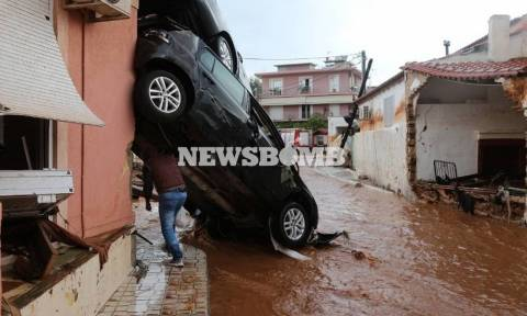 Death toll from floods rises to 16 after body is pulled out of basement in Nea Peramos