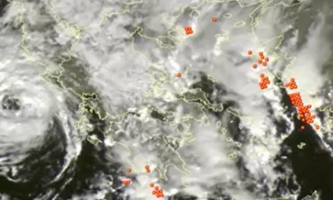 Σάκης Αρναούτογλου: «Ορατό το μάτι του Μεσογειακού κυκλώνα στα ανοιχτά της Κέρκυρας» (video)