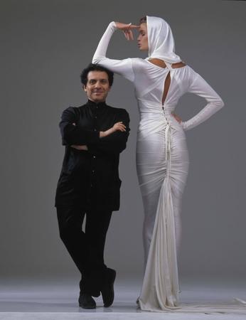 Azzedine Alaia et Elle McPherson par Gilles Bensimon en 1986