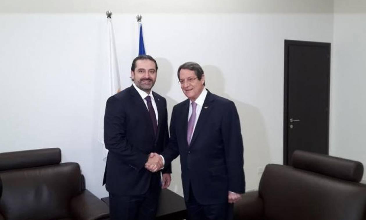 Κύπρος: Συνάντηση Αναστασιάδη - Χαρίρι στη Λάρνακα