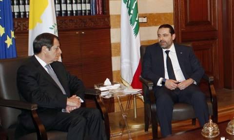 На Кипре состоялась встреча Никоса Анастасиадиса и Саада Харири
