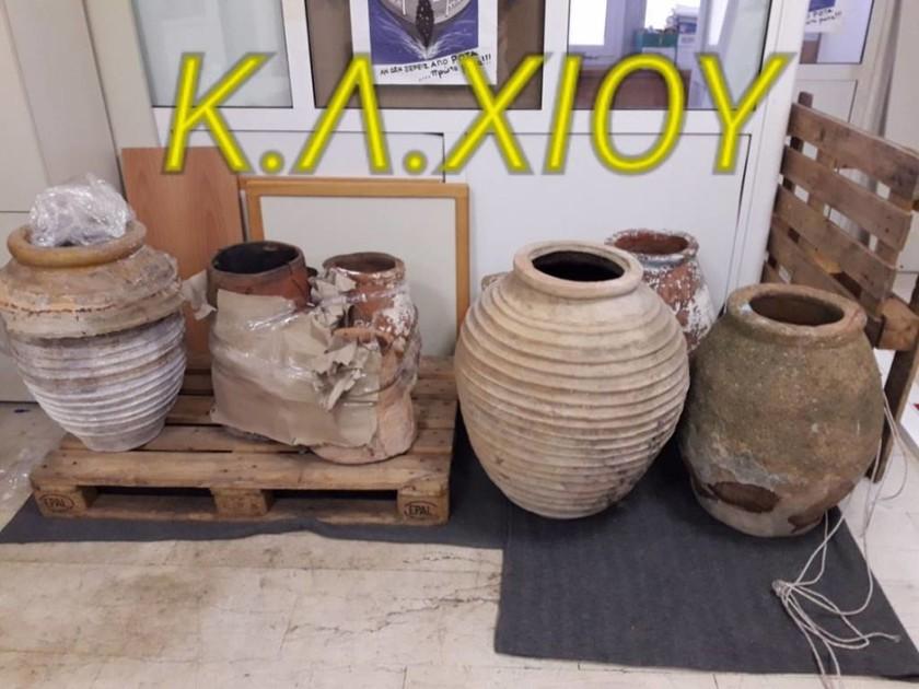 Χίος: Σπείρα αρχαιοκάπηλων εξαρθρώθηκε από το Λιμεναρχείο (pics)