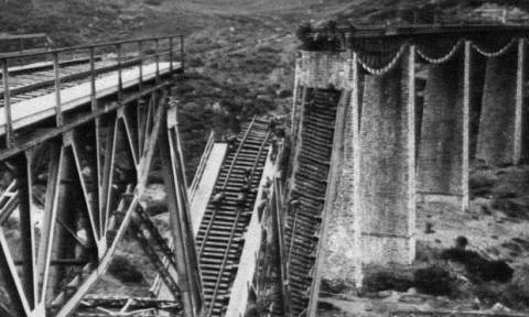 Σαν σήμερα το 1942 η Εθνική Αντίσταση ανατίναξε τη γέφυρα στο Γοργοπόταμο