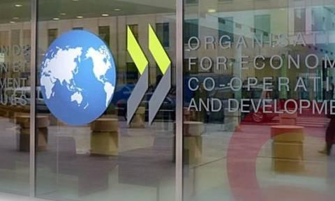 ΟΟΣΑ: «Βλέπει» ανάπτυξη 2,3% για το 2018 στην Ελλάδα