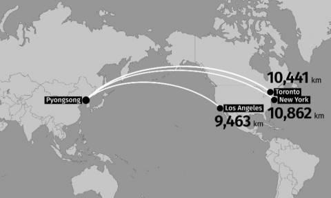 Τρομάζει τον πλανήτη η Βόρεια Κορέα: Επιτυχής η δοκιμή του νέου πυραύλου ICBM Hwasong-15