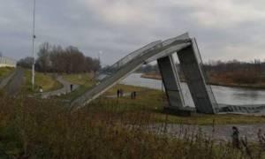 Τσεχία: Κατέρρευσε πεζογέφυρα - Τέσσερις τραυματίες (pics+vid)