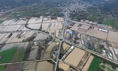 Πλημμύρισε η δυτική Ελλάδα: Εικόνες απόλυτης καταστροφής από την Πρέβεζα