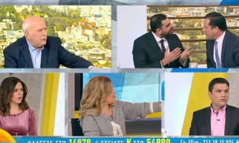 ΣΟΚ on air: Κωνσταντινέας και Άδωνις παραλίγο να έρθουν στα χέρια