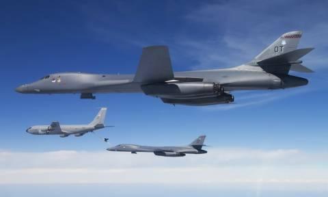 Επίδειξη δύναμης από ΗΠΑ - Βομβαρδιστικά B-1B θα πετάξουν πάνω από τη χερσόνησο της Κορέας